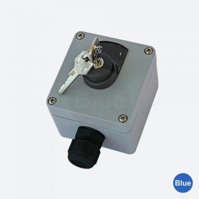 Botoeira de Comando com Chave  (1NA + 1NF) + Plaqueta - Blue